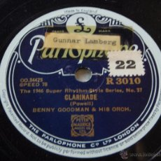 Dischi in gommalacca: BENNY GOODMAN & HIS ORCHESTRA ( CLARINADE - OOMPH FAH FAH ) THE 1946 SPER RHYTHM SERIES. Lote 50599485