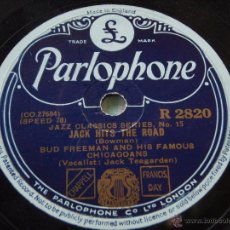 Discos de pizarra: BUD FREEDMAN & HIS FAMOUS CHICAGOANS VOCALIST; JACK TEAGARDEN ( JACK HITS THE ROAD - THAT DA-DA STR. Lote 50610196