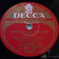 Discos de pizarra: DELTA FOUR ( FAREWELL BLUES - SWINGIN' ON THAT FAMOUS DOOR ) ENGLAND DECCA. Lote 50625813