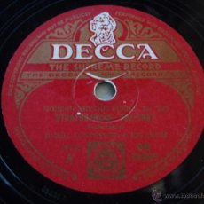 Discos de pizarra: JIMMIE LUNCEFORD & HIS ORCHESTRA VOCAL CHOUROS BY WILLIE SMITH ( RHYTHM IS OUR BUSINESS - STRATOSPH. Lote 50625848