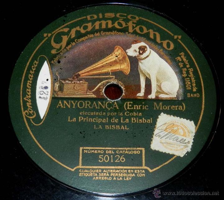 Discos de pizarra: DISCO PIZARRA DE SARDANA EJECUTADA POR LA COBLA LA PRINCIPAL DE PEREIADA, SARDANA ENTRE EL BOSTCAGE - Foto 2 - 50716420