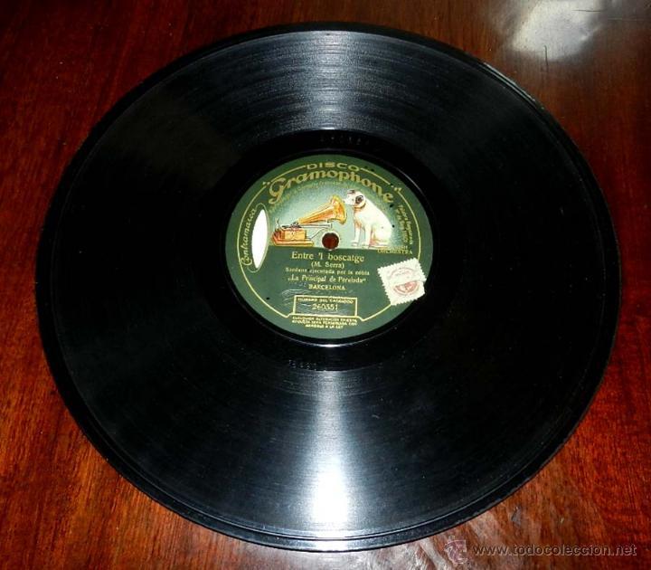 Discos de pizarra: DISCO PIZARRA DE SARDANA EJECUTADA POR LA COBLA LA PRINCIPAL DE PEREIADA, SARDANA ENTRE EL BOSTCAGE - Foto 3 - 50716420