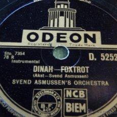 Discos de pizarra: SVEND ASMUSSEN'S ORCHESTRA ( DINAH - NOBODY'S SWEETHEART ) ENGLAND ODEON. Lote 50824723
