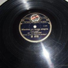 Discos de pizarra: DISCO DE PIZARRA REGAL, LA ANDALUCITA. Lote 50832048