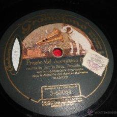Discos de pizarra: AMALIA MOLINA SOLEARES/PREGON DEL ACEITUNERO 25 CTMS 10 PULGADAS DISCO GRAMOFONO 3-63064 PIZARRA. Lote 50868011