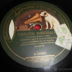 Discos de pizarra: PASTORA IMPERIO TIENTOS IMPERIALES/LA NIETA DE CARMEN 25 CTMS 10 PULGADAS DISCO GRAMOFONO W 263504. Lote 50868077