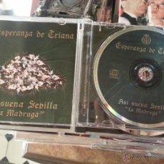 Discos de pizarra: CD SEMANA SANTA SEVILLA - VIRGEN - ESPERANZA DE TRIANA A SI SUENA , LA MADRUGADA. Lote 215668460