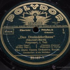 Dischi in gommalacca: THE STATE OPERA ORCHESTRA BERLIN ( ''DAS DREIMÄDERLHAUS'' POTPOURRI I & II ) SCHUBERT - BERTÉ. Lote 51015082