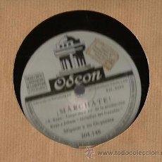 Discos de pizarra: MIGNON Y SU ORQUESTA : REPITE GUITARRA + MARCHATE . Lote 51162679