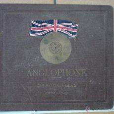 Discos de pizarra: CURSO DE INGLES ANGLOPHONE POR HORACE S. CHOWN - 15 DISCOS DE PIZARRA - EN SU ALBUM SERIGRAFIADO. Lote 51182596