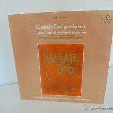 Discos de pizarra: CANTO GREGORIANO. CORO DE MONJAS DE LA ABADIA DE NOTRE - DAME D' ARGENTAN. 1978. VER FOTOGRAFIAS . Lote 51222692