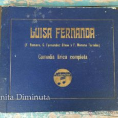 Discos de pizarra: LUISA FERNANDA - COMEDIA LIRICA COMPLETA - F. ROMERO, G. FERNANDEZ SHAW Y F. MORENO TORROBA - COLUMB. Lote 51231412