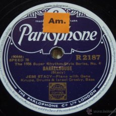 Discos de pizarra: JESS STACY, GENE KRUPA & ISRAEL CROSBY ( BARRELHOUSE ) MEADE LUX LEWIS ( HONKY TONK TRAIN BLUES ). Lote 51322985