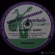 Discos de pizarra: JAMES MOODY & HIS BAND ( HOW DEEP IS THE OCEAN ) ROLF BLOMQUIST QUINTET ( STEEPLECHASE ) METRONOME. Lote 51323019