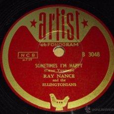 Discos de pizarra: RAY NANCE & THE ELLINGTONIANS ( MOON MIST - SOMETIMES I'M HAPPY ) ARTIST. Lote 51343498