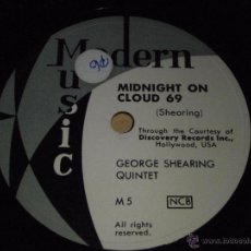 Discos de pizarra: GEORGE SHEARING QUINTET ( BEBOP FABLES - MIDNIGHT ON CLOUD 69 ) MODERN MUSIC. Lote 51343586
