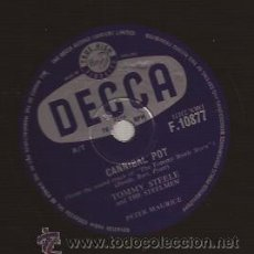 Discos de pizarra: DISCO 78 RPM PIZARRA-TOMMY STEELE DECCA 10877 UK 195??? ROCK & ROLL. Lote 51363662