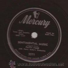 Discos de pizarra: DISCO 78 RPM PIZARRA-PATTI PAGE MERCURY 5571 USA 195??. Lote 51410345