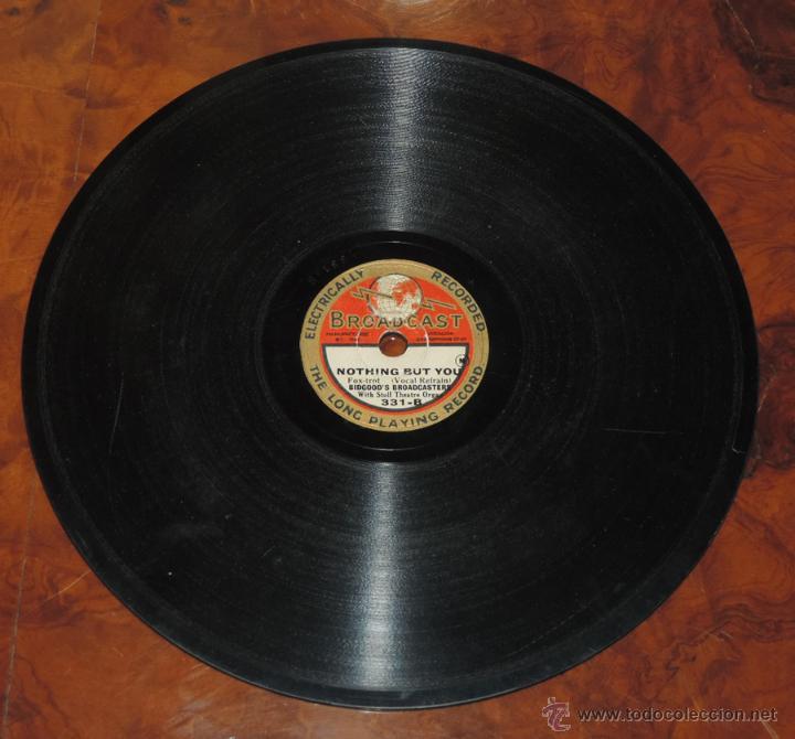 DISCO DE PIZARRA DE JEANNINE (WALTZ) / NOTHING BUT YOU (FOX-TROT), ED. BROADCAST, DISCO PEQUEÑO MID (Música - Discos - Pizarra - Otros estilos)