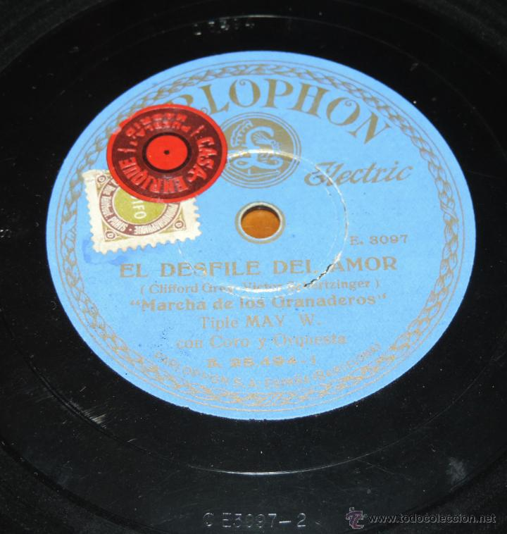 Discos de pizarra: DISCO DE PIZARRA DE MAY WYNN - EL DESFILE DEL AMOR - DREAM LOVER / MARCHA DE LOS GRANADEROS - PIZARR - Foto 3 - 51417551
