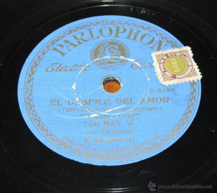 Discos de pizarra: DISCO DE PIZARRA DE MAY WYNN - EL DESFILE DEL AMOR - DREAM LOVER / MARCHA DE LOS GRANADEROS - PIZARR - Foto 4 - 51417551