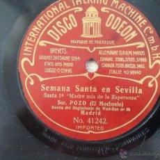 Discos de pizarra: ANTONIO POZO EL MOCHUELO - DISCO PIZARRA 27 CMS.. Lote 51422412