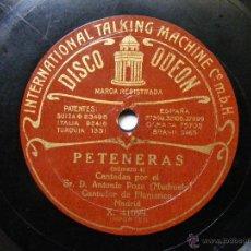 Discos de pizarra: LA RUBIA, A. POZO MOCHUELO BW ODEON 41106 FLAMENCO 78 GUAJIRAS VIDA MIA / PETENERAS 5. Lote 51449395