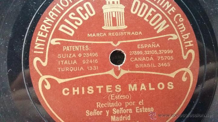 DISCO DE PIZARRA ODEON 27 CM (Música - Discos - Pizarra - Flamenco, Canción española y Cuplé)