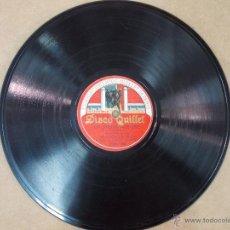Discos de pizarra: DISCO DE PIZARRA PARA GRAMOFONO QUILLET-LA VIEJECITA-LA VIUDA ALEGRE,CARMEN DOMINGO-J GARCIA ROMERO. Lote 51544512