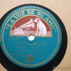 Discos de pizarra: IRMA VILA Y SU MARIACHI . EL AGUAMIELERO - EL HERRADERO. Lote 52136543
