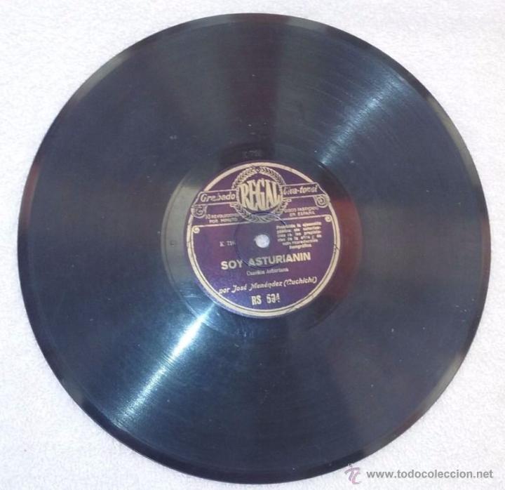 DISCO DE PIZARRA CANCIÓN ASTURIANA(SOY ASTURIANIN) (Música - Discos - Pizarra - Flamenco, Canción española y Cuplé)
