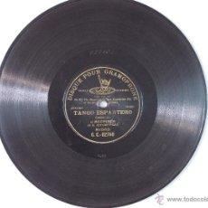 Discos de pizarra: ANTIGUO DISCO DE PIZARRA PARA GRAMOFONO MONOFACIAL ANTONIO POZO EL MOCHUELO TANGO ESPARTERO. Lote 52169690