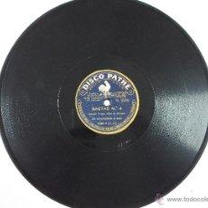 Discos de pizarra: DISCO DE PIZARRA PARA GRAMOFONO PATHÉ JOAQUIN VARGAS COJO DE MALAGA--SAETAS Nº 3 Y4. Lote 52289936