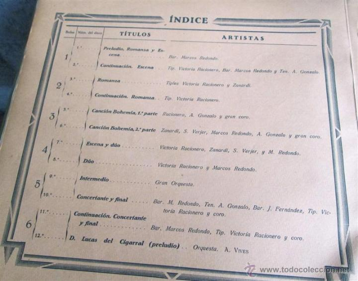 Discos de pizarra: Álbum con 6 discos de pizarra BOHEMIOS - Foto 6 - 52293897