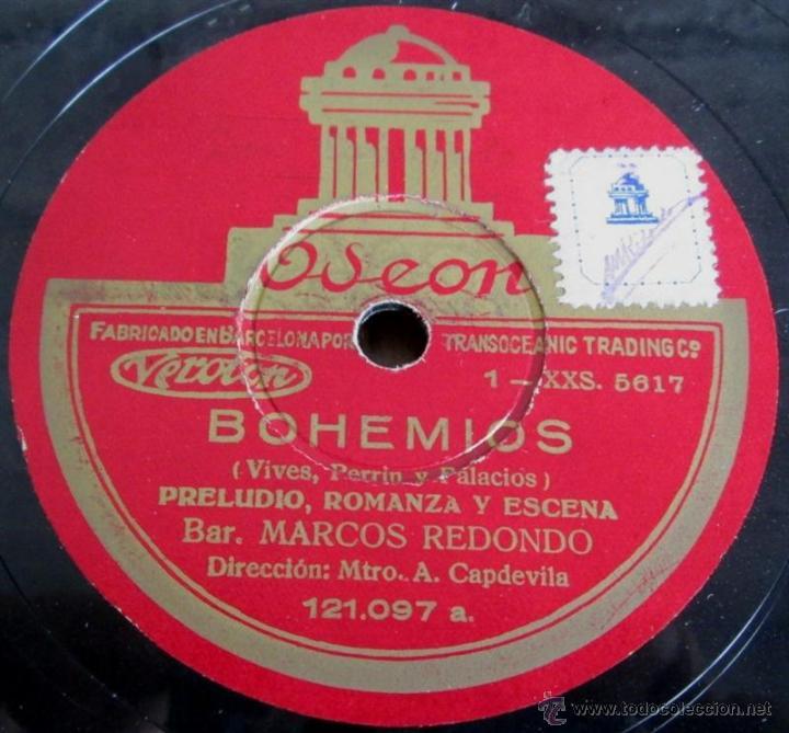 Discos de pizarra: Álbum con 6 discos de pizarra BOHEMIOS - Foto 8 - 52293897