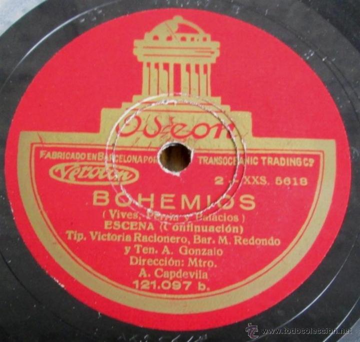 Discos de pizarra: Álbum con 6 discos de pizarra BOHEMIOS - Foto 10 - 52293897