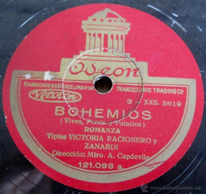 Discos de pizarra: Álbum con 6 discos de pizarra BOHEMIOS - Foto 12 - 52293897