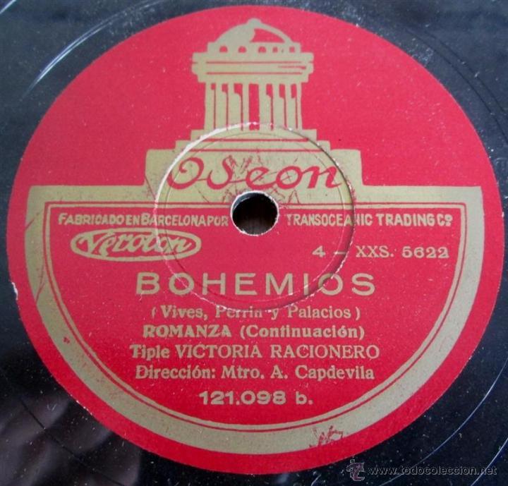 Discos de pizarra: Álbum con 6 discos de pizarra BOHEMIOS - Foto 14 - 52293897
