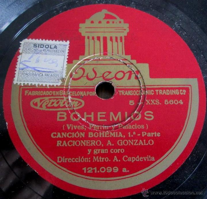 Discos de pizarra: Álbum con 6 discos de pizarra BOHEMIOS - Foto 16 - 52293897
