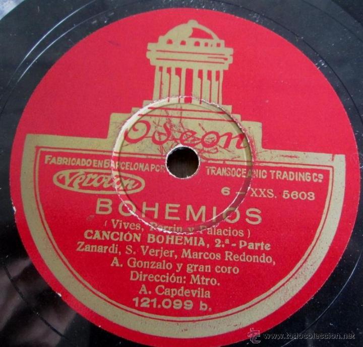 Discos de pizarra: Álbum con 6 discos de pizarra BOHEMIOS - Foto 18 - 52293897