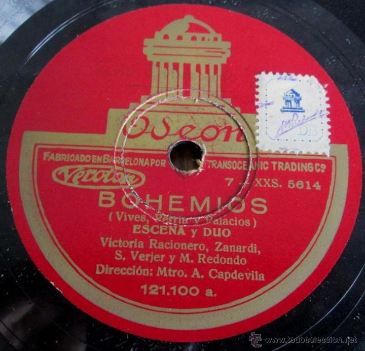 Discos de pizarra: Álbum con 6 discos de pizarra BOHEMIOS - Foto 20 - 52293897