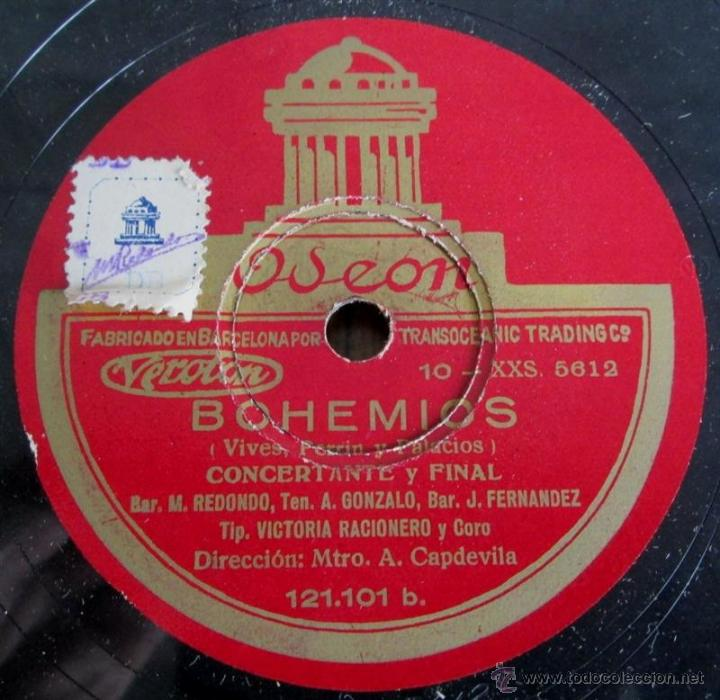 Discos de pizarra: Álbum con 6 discos de pizarra BOHEMIOS - Foto 24 - 52293897