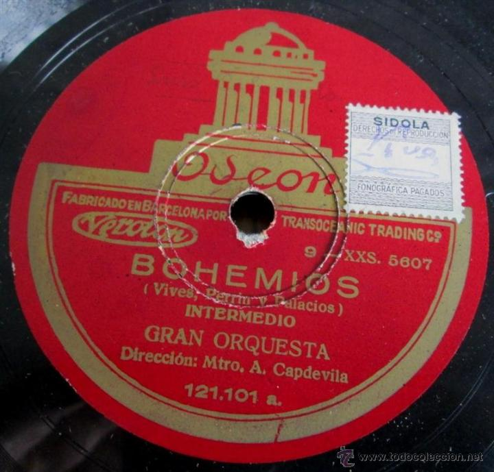 Discos de pizarra: Álbum con 6 discos de pizarra BOHEMIOS - Foto 26 - 52293897
