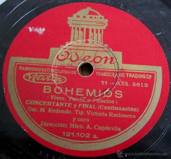 Discos de pizarra: Álbum con 6 discos de pizarra BOHEMIOS - Foto 28 - 52293897
