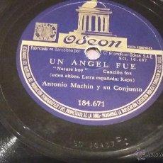 Discos de pizarra: DISCO DE PIZARRA ANTONIO MACHIN. Lote 52557032