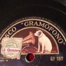 Disco de gramófono 78 rpm.imperio Argentina la hermana san sulpicio.sevillanas imperio tientos
