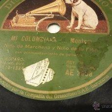 Discos de pizarra: NIÑO DE MARCHEN Y NIÑO DE LA FLOR DISCO DE PIZARRA. Lote 52600927