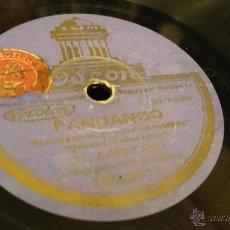 Discos de pizarra: COLOMBIANA / FANDANGO. EL AMERICANO. GUITARRA: M. DE BADAJOZ. FLAMENCO 78 RPM DISCO DE GRAMOFONO. Lote 52801182