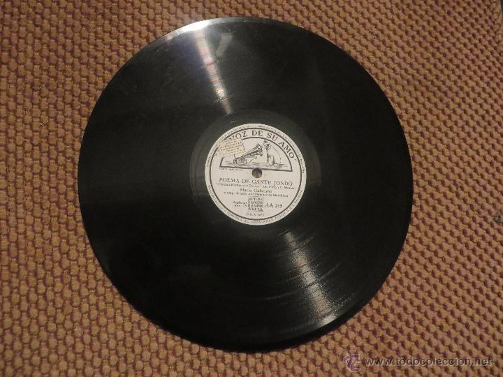DISCO DE PIZARRA DE MARIO GABARRON CON MELCHOR DE MARCHENA A LA GUITARRA (Música - Discos - Pizarra - Flamenco, Canción española y Cuplé)