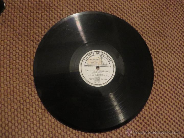 Discos de pizarra: DISCO DE PIZARRA DE MARIO GABARRON CON MELCHOR DE MARCHENA A LA GUITARRA - Foto 2 - 53032814